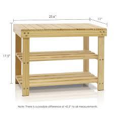 amazon com furinno fncj 33019 pine solid wood shoe rack natural