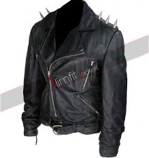 motorcycle riding jackets ghost rider black motorcycle spiked jacket