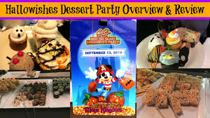 mickey s halloween party reviews hallowishes dessert party overview u0026 review youtube