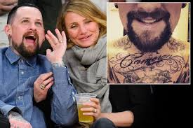 benji madden gets cameron diaz u0027 name tattooed on his chest as he