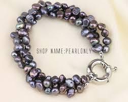 black pearl bracelet jewelry images Black pearl bracelet etsy jpg