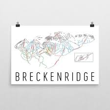 Breckenridge Ski Map Amazon Com Breckenridge Poster Breckenridge Ski Resort Poster