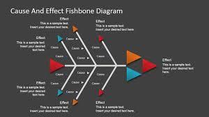 flat fishbone diagram for powerpoint slidemodel