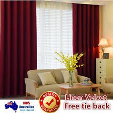 Burgundy Velvet Curtains Window Velvet Curtains Ebay