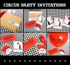 circus invitations armelle