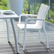 Sling Patio Chairs Stackable by Grosfillex Xa645096 Us645096 Sunset White Resin Stacking Sling