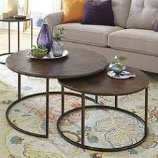 round nesting coffee table modern designer round nesting marble coffee tables black steel