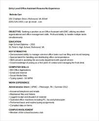 Office Clerk Resume No Experience 24 Best Work Resume Templates Free U0026 Premium Templates