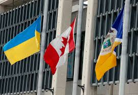 Ukraine Flag City Lowers Flag To Mark Violence In Ukraine Winnipeg Free Press