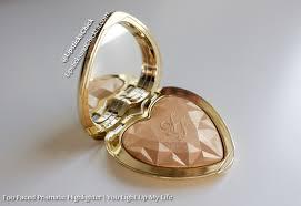 love light prismatic highlighter too faced love light prismatic highlighter in you light up my life