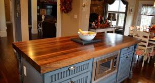 Rustic Kitchen Countertops by Grayish Blue Island Wooden Countertop White Dining Table And