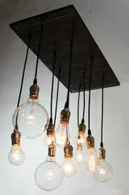 Diy Industrial Chandelier How To Make A Bare Edison Bulb Chandelier