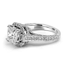 princess cut engagement rings with halo jean jewelers