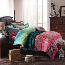 What Size Is King Size Duvet Cover Amazon Com Lelva Ethnic Style Bedding Sets Morocco Bedding