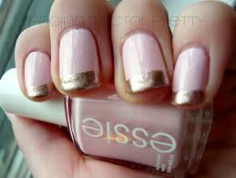 rose gold nail tips images