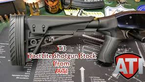t3 tactlite shotgun stock from ati youtube