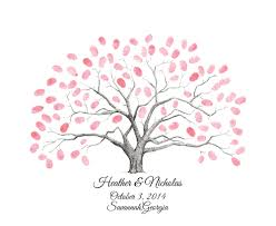 fingerprint thumbprint tree guestbook alternative wedding