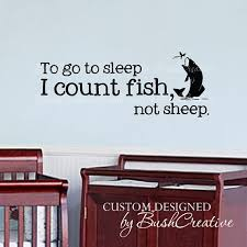 Fish Nursery Decor Wall Decals Nursery Fishing Fish Baby Humor 04040 By Bushcreative