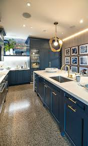 blue kitchen cabinets toronto pacifica midnight blue contemporary kitchen toronto