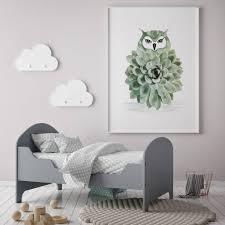 owl bird print by georgie st clair notonthehighstreet com
