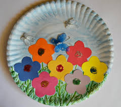 paper plate spring garden paper plate crafts indoor and learning