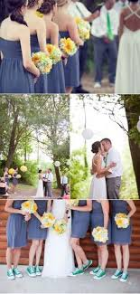 wedding shoes chagne bridesmaids with their navy chucks wedding chuck