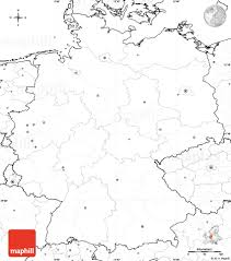 Germany On World Map by Maps Maphill Com Germany Simple Maps Blank Map No