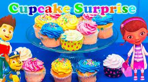 cupcake surprise nickelodeon paw patrol doc mcstuffins worlds
