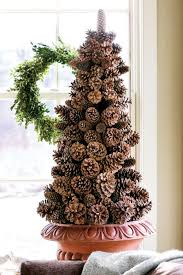 decorations christmas decor features pinecone christmas tree on