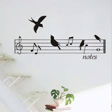 compare prices on music wall mural online shopping buy low price birds music notes wall stickers for living room bedroom high quality wall murals art home decor