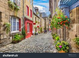 Traditional European Houses Beautiful View Scenic Narrow Alley Historic Stock Photo 397769281