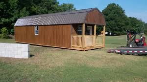 Derksen Portable Finished Cabins At Enterprise Center Youtube 12x36 Double Lofted Premier Portable Building Delivery Youtube