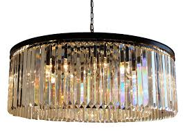 12 Bulb Chandelier D U0027angelo 12 Light Round Clear Glass Fringe Prism Chandelier