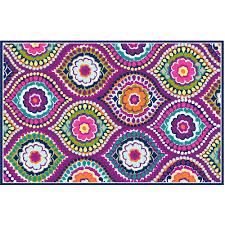 your zone painters mosaic rug purple 4 u00278