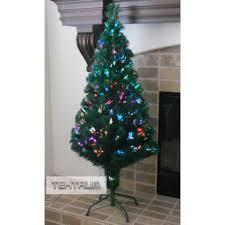 fiber optic light tree tektrum 48 premium christmas rainbow color changing fiber optic