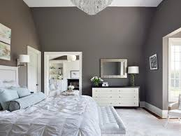 gray painted rooms bedroom color palette dark brown varnished wooden bed gray painted