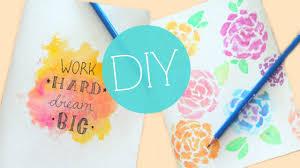 Decorative Journals Diy Watercolor Notebook Journal Cover Easy Diy
