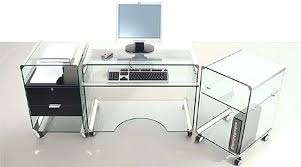 Small Glass Computer Desk Glass Computer Desk Ikea Eatsafe Co