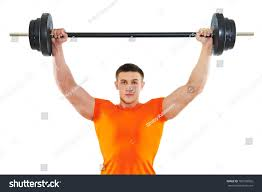 smiling fitness bodybuilder man arm muscles stock photo 100730002