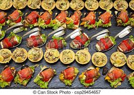 cuisine decorative contemporary cuisine decorative garnished modern canapes stock