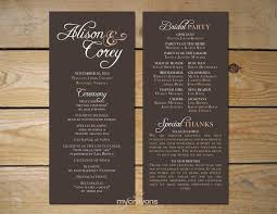 Order Wedding Programs 31 Best Wedding Order Of Service Images On Pinterest Wedding