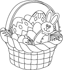 easter basket with eggs coloring page 225 best spring coloring pages images on pinterest coloring