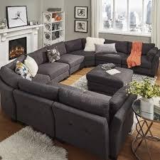 U Shaped Sectional Sofa Grey U Shaped Sectional Sofas You Ll Wayfair