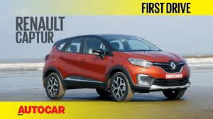 renault india renault captur first drive autocar india youtube