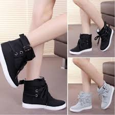 Comfortable Casual Boots Fashion Womens Korean Style Sneakers Comfortable Casual Canvas