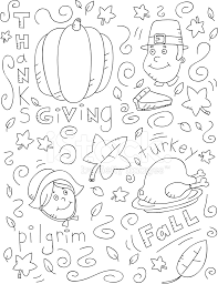thanksgiving doodle stock vector freeimages