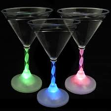 martini clear amazon com light up martini glasses with color changing led light