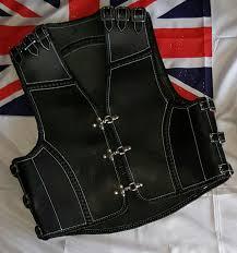 leather vest leather vest black oz biker gear
