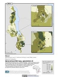 Malawi Map Maps Poverty Mapping Sedac