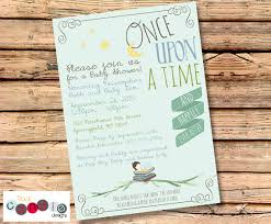 baby shower book theme printable or printed book themed baby shower party invitation